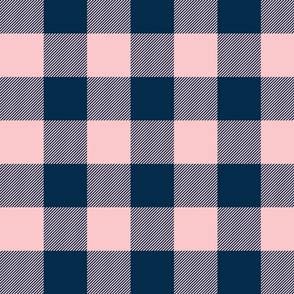 Big Buffalo Plaid -Pink/navy