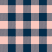 Big Buffalo Plaid - coral/navy