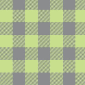 Big Buffalo Plaid - lime/grey