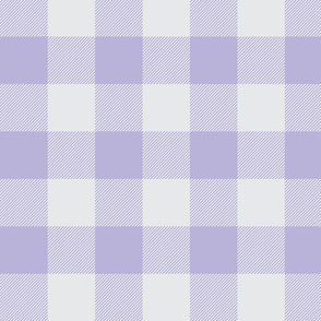 Big Buffalo Plaid -  lilac and silver