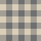 Big Buffalo Plaid -tan and grey