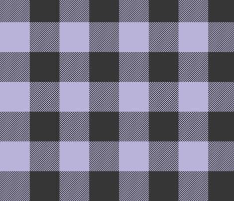 Big Buffalo Plaid -lilac, black fabric by sugarpinedesign on Spoonflower - custom fabric