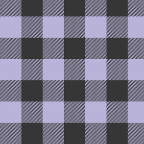 Big Buffalo Plaid -lilac, black