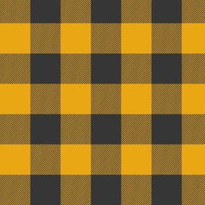 Big Buffalo Plaid - black and gold