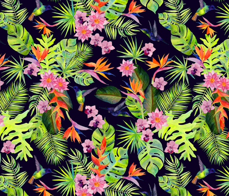 Rainforest Spirit fabric by katebillingsley on Spoonflower - custom fabric