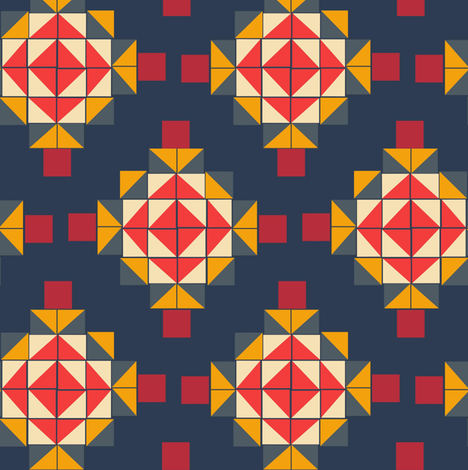 Quilt and blocks fabric by susiprint on Spoonflower - custom fabric