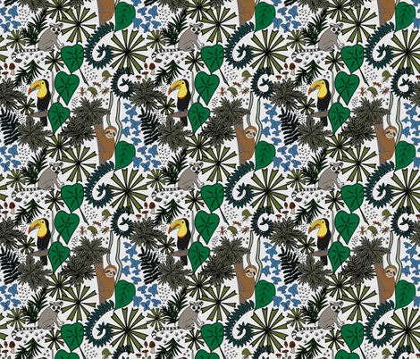 Rainforest Life  fabric by woolandtie on Spoonflower - custom fabric