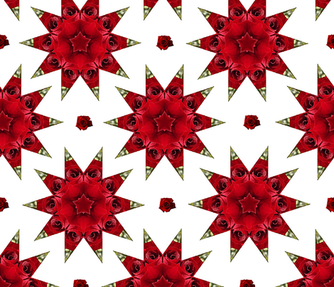 mandala with roses fabric by stofftoy on Spoonflower - custom fabric