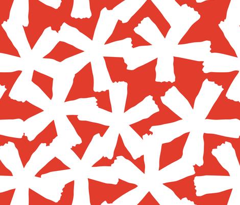 Falling Leaves Orange fabric by inkandcraft on Spoonflower - custom fabric
