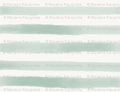 watercolor stripes - mint hand drawn stripes