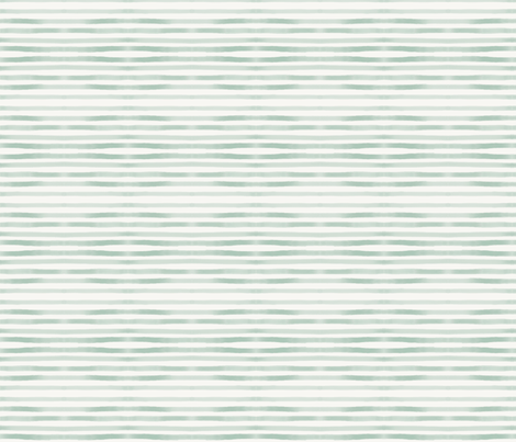 watercolor stripes - mint hand drawn stripes fabric by sunny_afternoon on Spoonflower - custom fabric