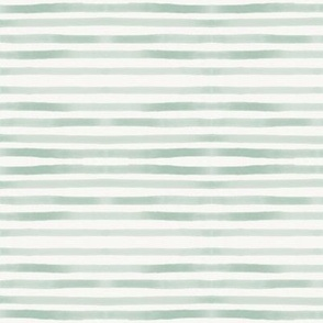 watercolor stripes - mint hand drawn stripes