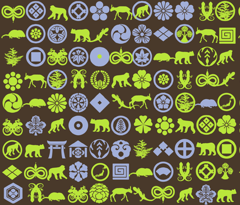 Japanese rainforest fauna fabric by isabella_asratyan on Spoonflower - custom fabric
