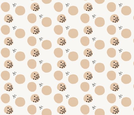 Watercolor abstract - dots peach dotty fabric by sunny_afternoon on Spoonflower - custom fabric