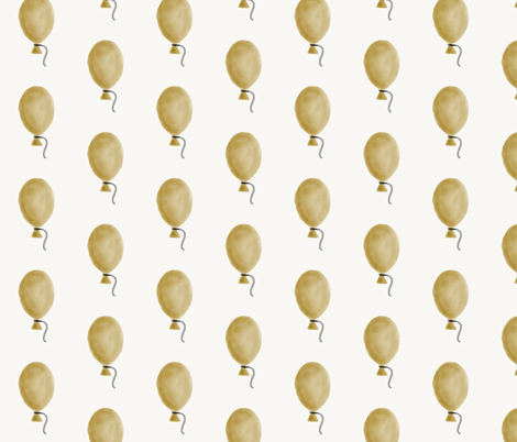 Watercolor balloons - golden yellow balloons mustard balloons kids fun fabric by sunny_afternoon on Spoonflower - custom fabric