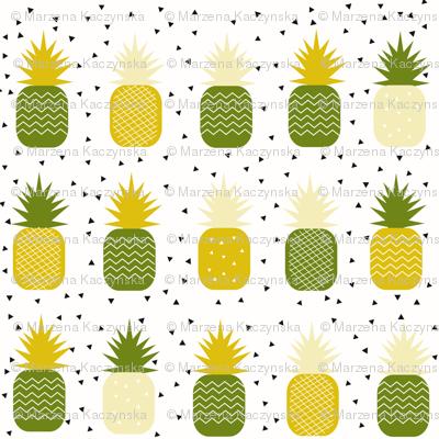 Pineapples - geometric pineapple ananas tropical fruit lemon and mint