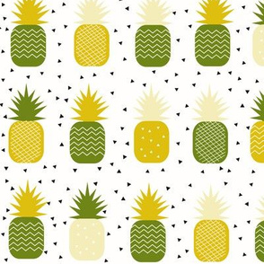Pineapples - geometric pineapple ananas tropical fruit lemon and mint