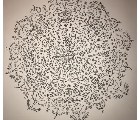 Mandala fabric by asheybear on Spoonflower - custom fabric