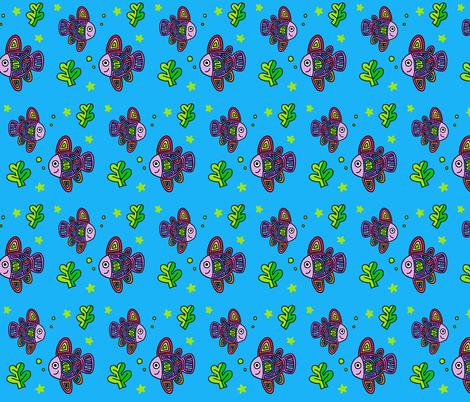 One fish, two fish fabric by mrlunastudio on Spoonflower - custom fabric