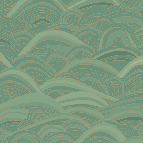 just waves aqua fabric by scrummy on Spoonflower - custom fabric