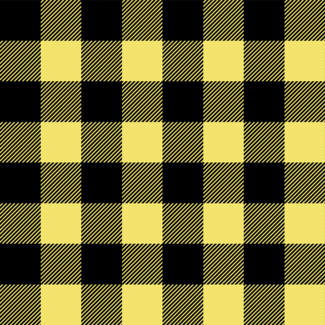 favorite things yellow buffalo plaid coordinate fabric by littlearrowdesign on Spoonflower - custom fabric