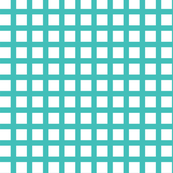 White and Aqua Squares Medium