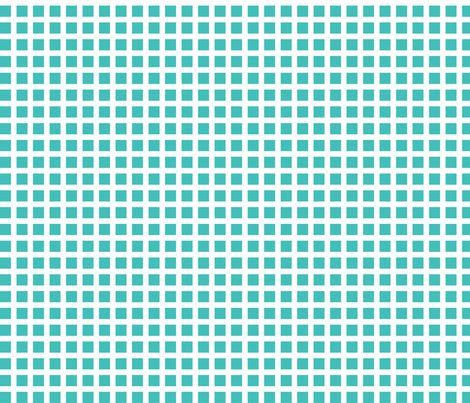 Aqua and White Squares Medium fabric by joanandrose on Spoonflower - custom fabric
