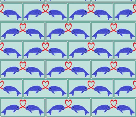 narwhals_in_love fabric by mandimlynch on Spoonflower - custom fabric