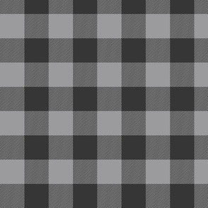 Big Buffalo Plaid - Check - black and grey