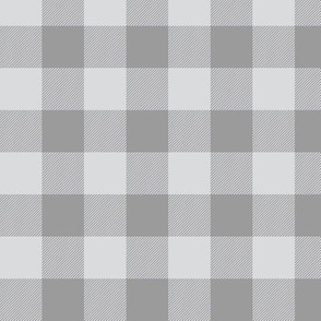 "1"" Buffalo Plaid - Check - greys"