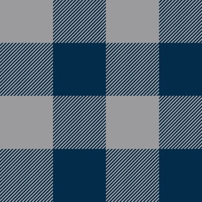 Big Buffalo Plaid - Check - navy and grey