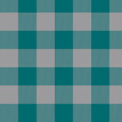 Big Buffalo Plaid - Teal/grey