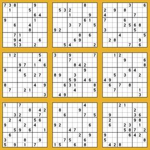Sudoku - Mustard