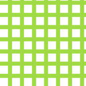White and Lime Squares Large