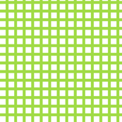 White and Lime Squares Medium
