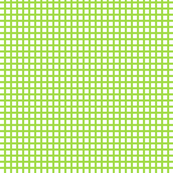 White and Lime Squares Small