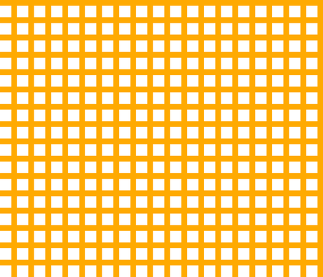 White and Orange Squares Large fabric by joanandrose on Spoonflower - custom fabric