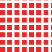 Red and White Squares Large