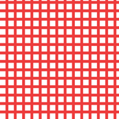 White and Red Squares Medium