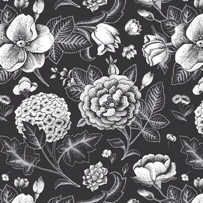 Night floral pattern