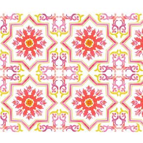 Watercolour Table Runner - Ponte de Luis