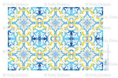 Watercolour Tea Towel - Rio Gilao Design