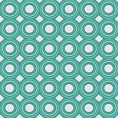 light teal geo circles