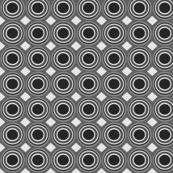 grey black geo circles