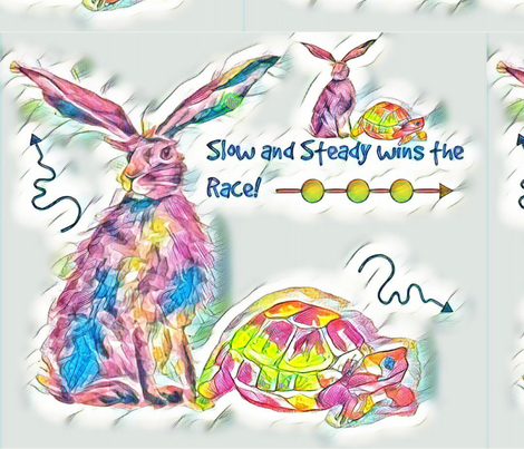 Slow & Steady fabric by floramoon_designs on Spoonflower - custom fabric