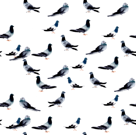 Pigeons fabric by ivankacostru on Spoonflower - custom fabric