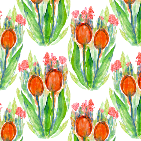 Two tulips fabric by tanistaja on Spoonflower - custom fabric