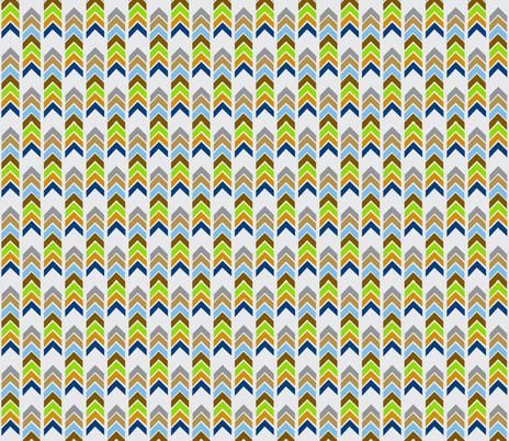Aztec arrows SMALL -  gray mist spring bark fabric by drapestudio on Spoonflower - custom fabric