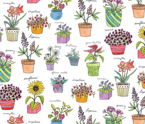 PottedPlants fabric by lprspr on Spoonflower - custom fabric