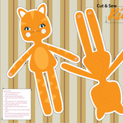 Orange Kitty Doll